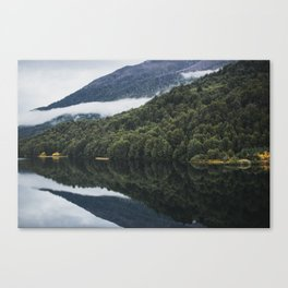 Reflections on Still Patagonia Lake Lonconao Water Canvas Print