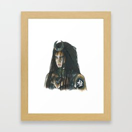 Cara Delevingne suicide squad Framed Art Print