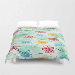 Spring is right here Duvet Cover