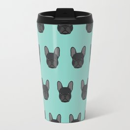 French Bulldog black coat frenchie must have gifts for dog person dog lover bulldog owner cute doge Travel Mug