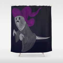 Ghost Witch Geometric Shower Curtain