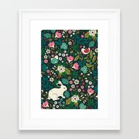 forest Framed Art Prints featuring Forest Friends by Anna Deegan