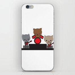Kitty Cat Kawaii Band usic iPhone Skin