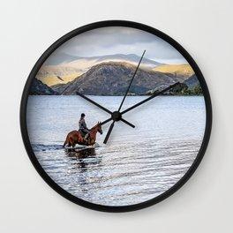 Horse at Airds Bay Loch Etive Wall Clock