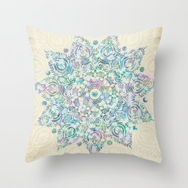 Mermaid Dreams Mandala Throw Pillow