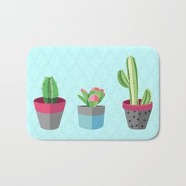 3 Little Cacti Bath Mat