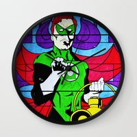 religion Wall Clocks featuring heroic religion by Flo Zero