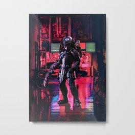 Tokyo Night Predator Metal Print