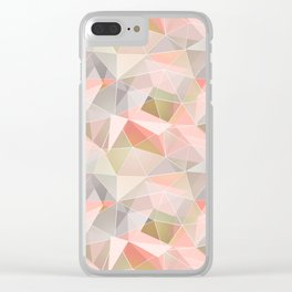 Broken glass in warm colors. Clear iPhone Case
