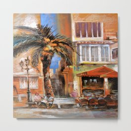 Outdoor cafes Metal Print