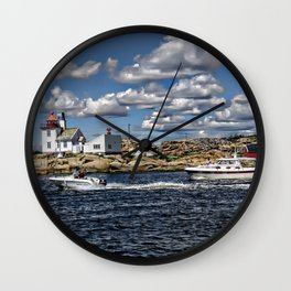 Homlungen lighthouse, Hvaler in Norway Wall Clock