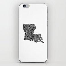 Typographic Louisiana iPhone & iPod Skin