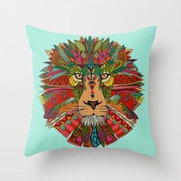lion mint Throw Pillow