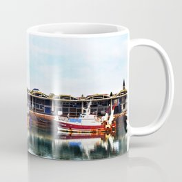 3 Boats in Dieppe Harbour Coffee Mug