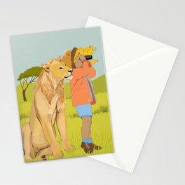 Lion Girl Stationery Cards