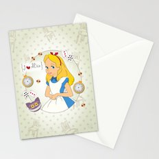 I {❤} Alice In Her Wonderland Stationery Cards