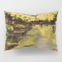River Impressionism Landscape Painting Pillow Sham