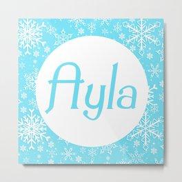 Ayla frozen Metal Print