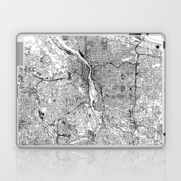 Portland White Map Laptop & iPad Skin