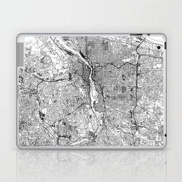 Portland White Map Laptop & iPad Skin