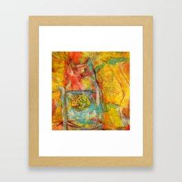 Cat Jar - Fish Framed Art Print