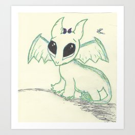 Dragon Baby Art Print