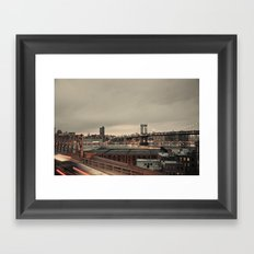 the city never sleeps:: nyc Framed Art Print