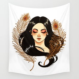 Peacock's feathers Wall Tapestry