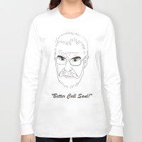 better call saul Long Sleeve T-shirts featuring Better Call Saul Berenson by FENNIKEL