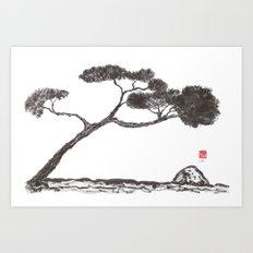 Tree and Stone Art Print