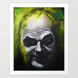 Beetle Juice Portrait - Canvas to Print  Art Print