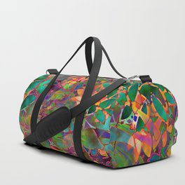 Floral Abstract Stained Glass G176 Duffle Bag