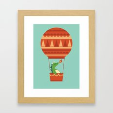 Dragon On Hot Air Balloon Framed Art Print