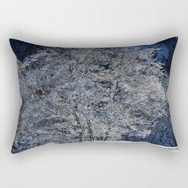 Hoarfrost And Snow Rectangular Pillow