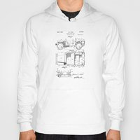 jeep Hoodies featuring Jeep: Byron Q. Jones Original Jeep Patent by Elegant Chaos Gallery