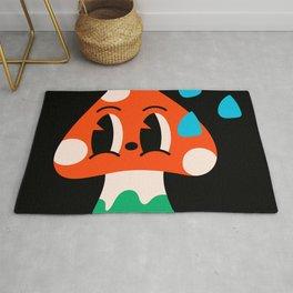 Abstract comic style mushroom Rug