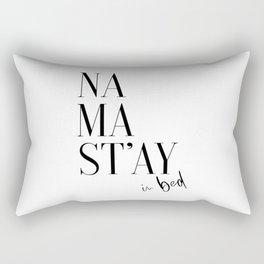 Namastay In Bed, Bed Art, Bedroom Wall Art, Room Decor, Namastay Bed Art Rectangular Pillow