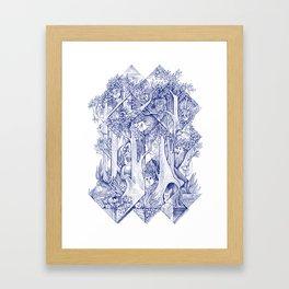 Hide-and-seek Framed Art Print