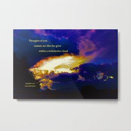 """Sunset #87"" with poem: Technicolor Clouds Metal Print"