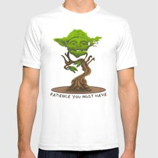 Bonsai Yoda SMALL Mens Fitted Tee White