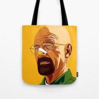 heisenberg Tote Bags featuring Heisenberg by Stan Pro
