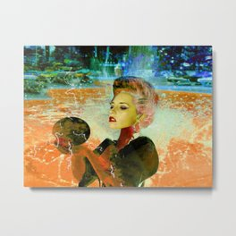 Electric cyborg Metal Print