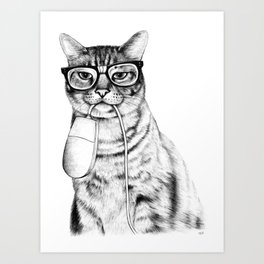 Mac Cat Art Print