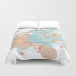 Transforming Within - Copper Rose Gold Duvet Cover