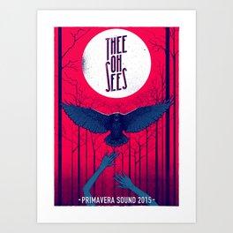 Thee Oh Sees poster Kunstdrucke