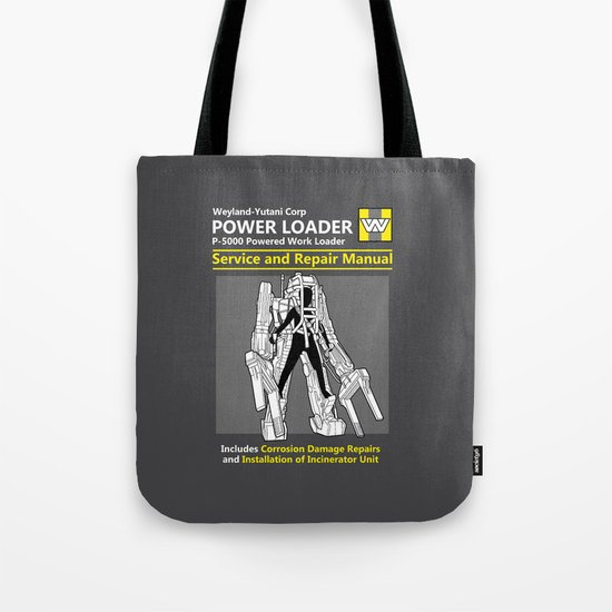 Power Loader Service and Repair Manual Tote Bag