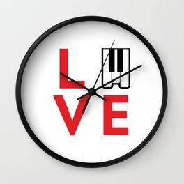 Love music #society6 #music #buyart #artprint Wall Clock