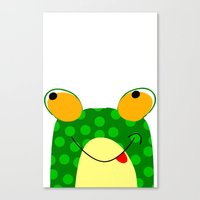 frog Canvas Prints featuring Frog by Jessica Slater Design & Illustration