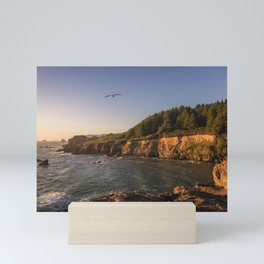 Elk Head at golden hour Mini Art Print