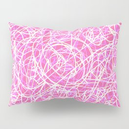 Girly Pink Party Pop Art Lines Pillow Sham